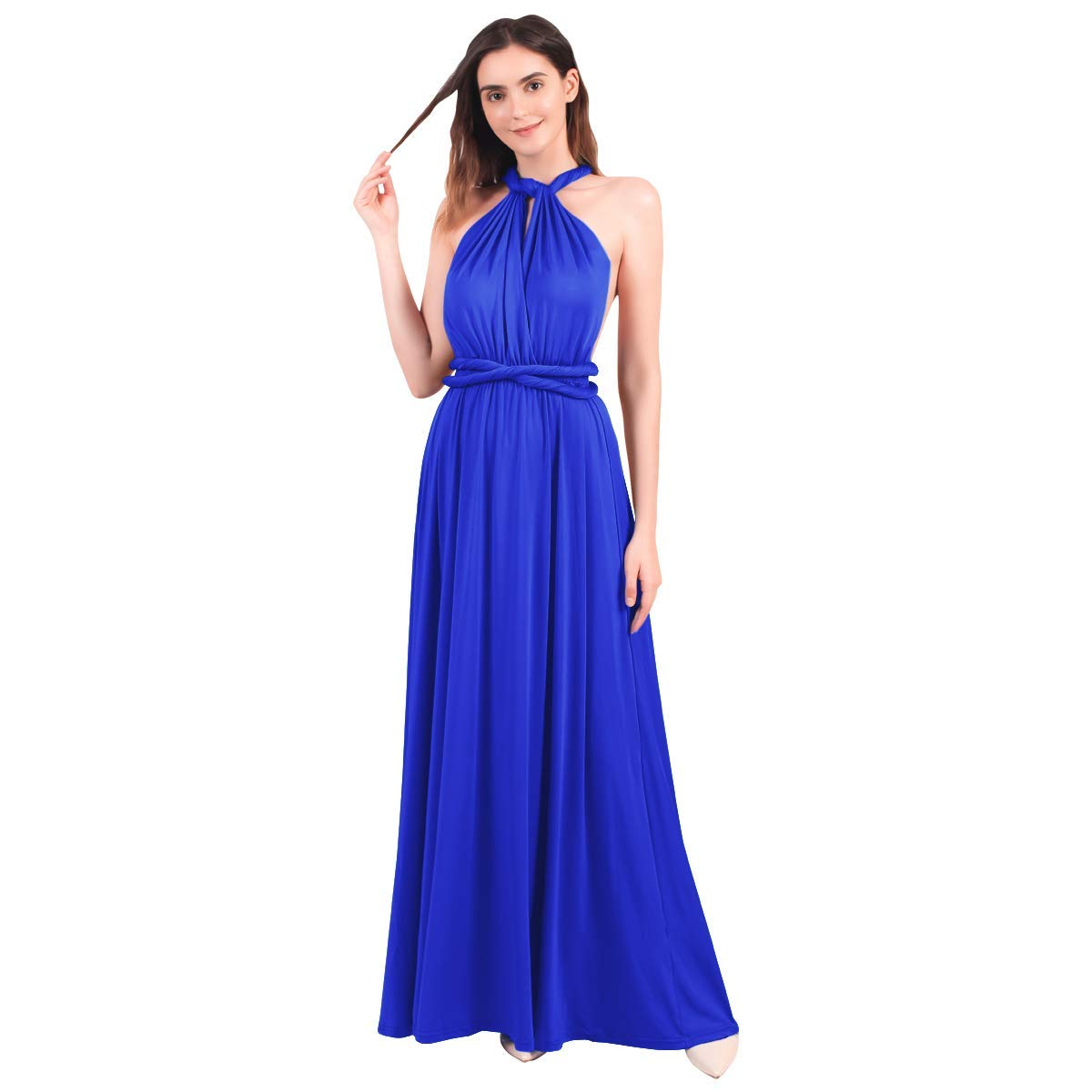 Available at Amazon: Women's Transformer Evening Dress Maxi Cocktail Wrap Convertible Multi Way Floor Long Formal Gown