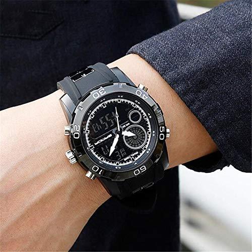ZSDGY Sport-wasserdichte Gezeiten-Uhr, Männliche Elektronische Uhr, Jugend-Multifunktions-Digital-männliche Studenten-Uhr,E