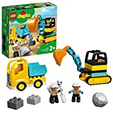 LEGO 10931 Duplo Town Camión y Excavadora con Orugas Juguete de Construcción