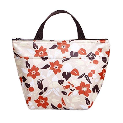 Coloré(TM) Sac Repas Lunch Bag Sac à Déjeuner Isotherme Les femmes transportent la boîte à lunch refroidie par isotherme thermique transportent le sac fourre-tout (A)