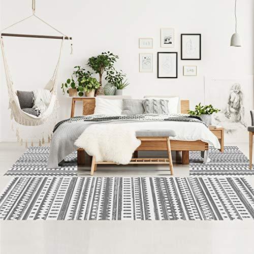 Bettumrandung Schlafzimmer - Hochflor Teppich-Läufer 2x 70x140 cm/ 1x 70x230 cm - Teppiche im Ethno-Stil