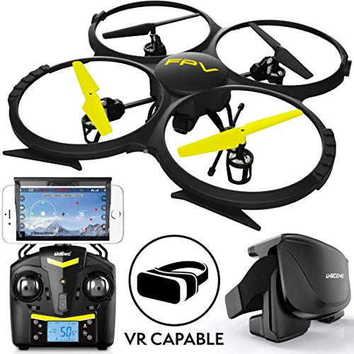 UDI RC Drones with Camera for Adults and Kids - U818A WiFi FPV 720p HD Camera Drone Quadcopter, RC WiFi FPV Drone w/ Camera Live Video and VR Headset