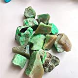 YELVQI Cristal de curación Natural Verde Moonstone Piedras ásperas Felicidad Feliz Familia Espécimen Curación Curación de Piedras Preciosas Colecciones Acuario Decoración