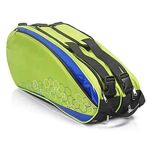 belupai Wasserdichte Tennistasche Professionelle Schlägertasche Sporttasche Schläger Rucksack Badminton Tasche Zubehör für 6–12 Schläger, 190910TN32-4-1030-1342000872, Orange