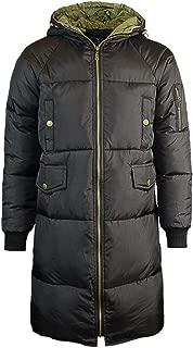 MODOQO Men's Puffer Parka Down Coat Long Trench Winter Warm Windproof Overcoat
