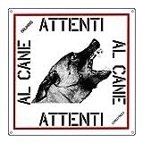 lovelytiles malinois pastore belga targa cartello pvc attenti al cane 16x16 quantita 2 pezzi