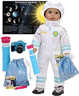 Smithsonian 18 Inch Doll Astronaut Set by Sophia's | Spacesuit, Telescope, Moon Rock Bag, Camera and More | 8 Pc Astronaut...