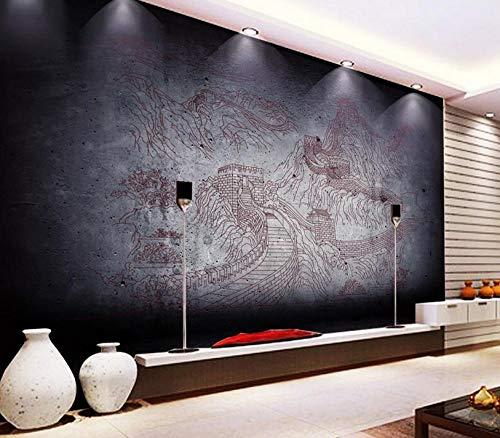 Papel tapiz 3D de alta calidad Dibujo de la Gran Muralla HD Mural Arte Sala de estar dormitorio Tratamientos de pared tv Papel de pared 400x280cm