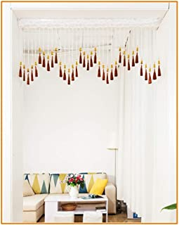 Beaded Curtain Beads Door String Curtains Crystal Tassel Screen Panel Window Divider Blind Washable, Size Customizable (Co...