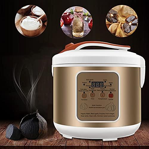 TTLIFE Fermentatore per Aglio 5L, Nuovo fermentatore per Aglio Nero Completamente Automatico, Controllo Intelligente per Aglio, yogurtiera, Kimchi, vinificatore per Riso Dolce, Pasta