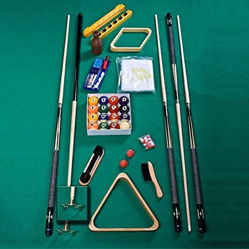 Standard Billard Accessoires-Set Zubehörset Queues Kugeln Abdeckung Triangel Rhombus Bürste Billardkreide Kellypoolset Reparaturset