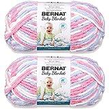 Bernat Baby Blanket Big Ball Yarn (2-Pack) Pink/Blue 161104-4305