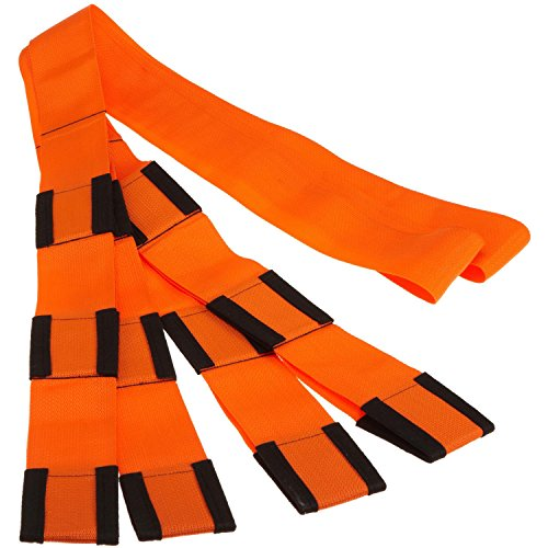 Forearm Forklift Lifting and Moving Straps for Furniture, Appliances, Mattresses or Heavy Objects up to 800 Pounds 2-Person, Made in USA, Orange, Model L74995