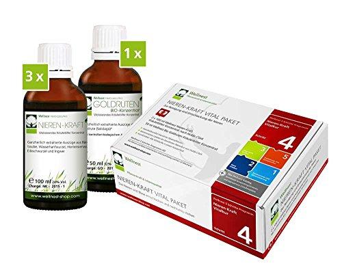 Wellnest Nieren-Kraft Detox-Kur-Paket (Entgiftungs-Kurpaket für 30 Tage Nierenreinigung nach Hulda Clark) - 100% pflanzlich - einfache Handhabung - sehr gut wirksam bei häufigen Blaseninfekten und Nierenbeschwerden