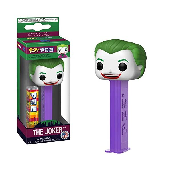 Funko DC Comics Batman 1966 Joker Pop! Pez Candy & Dispenser 2