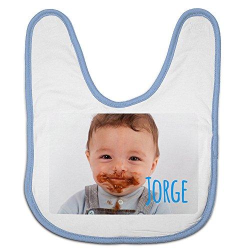 Babero Bebé Personalizado con tu Foto/Imagen/Nombre/Texto | Regalos Bebés Recién Nacidos Azul