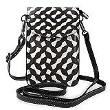 Sconosciuto Imbuto geometrico reticolo irregolare griglia piccola borsa a tracolla cellulare borsa a tracolla – donna in pelle PU borsa a mano con cinghia regolabile per la vita quotidiana