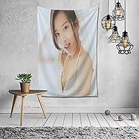 2021タペストリー 山本 彩(やまもと さやか)ファッションの絶妙な印刷リビングルームの入り口寝室の背景壁の装飾カスタマイズされた壁掛け布 (60 * 40inch)