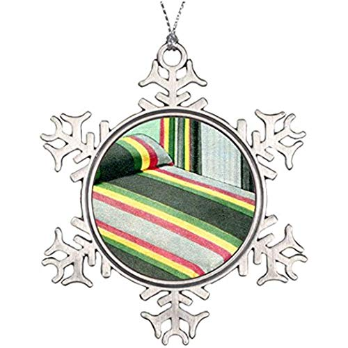 Best Friend Snowflake Ornaments Retro Vintage Kitsch Bed Spread Carnival Stripes Large Christmas Tree Decorations Vintage