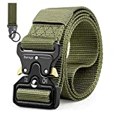 Bansga Cinturón Táctico de los Hombres Estilo Militar con Nosotros Cinturón de Nylon de Alta...