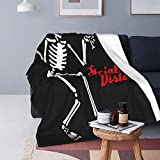 Social Distortion Skeleton Blanket Ultra-Soft Micro for Couch Or Bed Warm Throw Blanket All Season Sofa Blanket