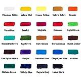 Mont Marte Acrylfarben-Set 24Farben 36ml, perfekt für Leinwand, Holz, Stoff, Leder, Karton, Papier, MDF und Basteln - 2