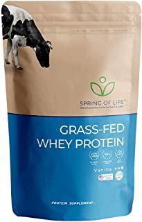 Spring of Life, New Formula, Grass-Fed Whey Protein, Vanilla, 22 Servings (20.56Oz)