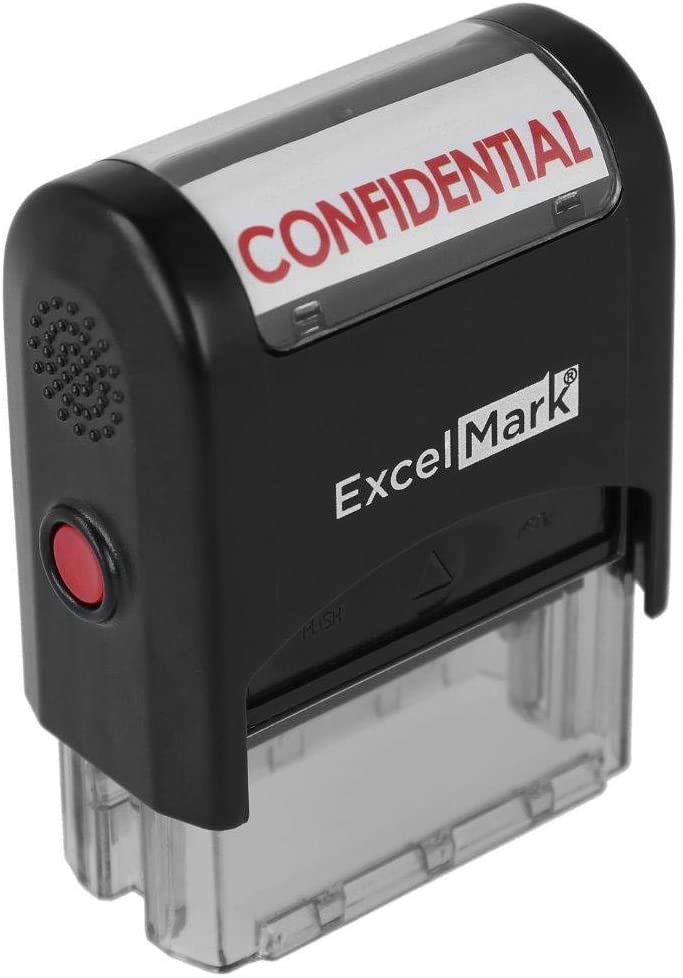 Confidential Self Inking Rubber Super special Now on sale price Ink - Stamp Red