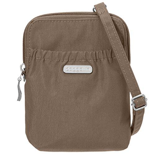 Baggallini Bryant RFID Smartphone Tasche und Geldbörse, Umhängetasche, wasserabweisende Reise-Geldbörse, Portobello (Braun) - BRY757B0220