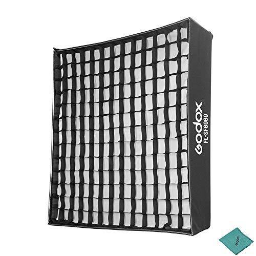 Godox FL-SF6060 Softbox Kit mit Honeycomb Grid Tragetasche aus weichem Stoff für Godox FL150S Flexible LED-Leuchte Roll-Flex Photo Light