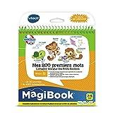 VTech - Livre MagiBook - Mes 200 premiers mots Français/Anglais - apprendre l'anglais - livre bilingue, livre éducatif – Version FR