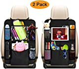 Techtest Backseat Car Organizer, Kick Mats Car Back Seat Protector with Touch Screen