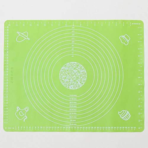 Kitchen Baking Tools 50 x 40 große dicke Silikon-Pads mit Skala Backen Knetpad Western Pad Wärmedämmung Pad grün