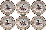 Johnson Bros frutas Sampler, juego de 6 platos 23 cm