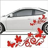 Set'Flower/Stars,Butterfly hibisco flores mariposa' 60x20 cm Pegatinas y vinilos adhesivos para tuning de coches y motos,Tatuajes de pared,azulejo pegatina,Pegatinas, de gran calidad y larga duración - MADE IN SPAIN