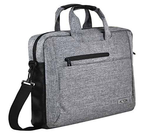 CIVPOWER Computer Bag for Laptops - Multi Compartments - Neutral Grey for Men and Women - 13.5 Sleeve