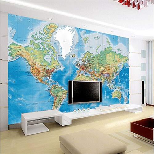 ZLYYH 3D Wallpaper Wandbild,3D-forschung Weltkarten, HD-Print Art Poster Bild Foto Wasserdicht Großes Seide Wandbild, für Wohnzimmer TV-Kulisse Schlafzimmer Hotel Küche Wand Dekor
