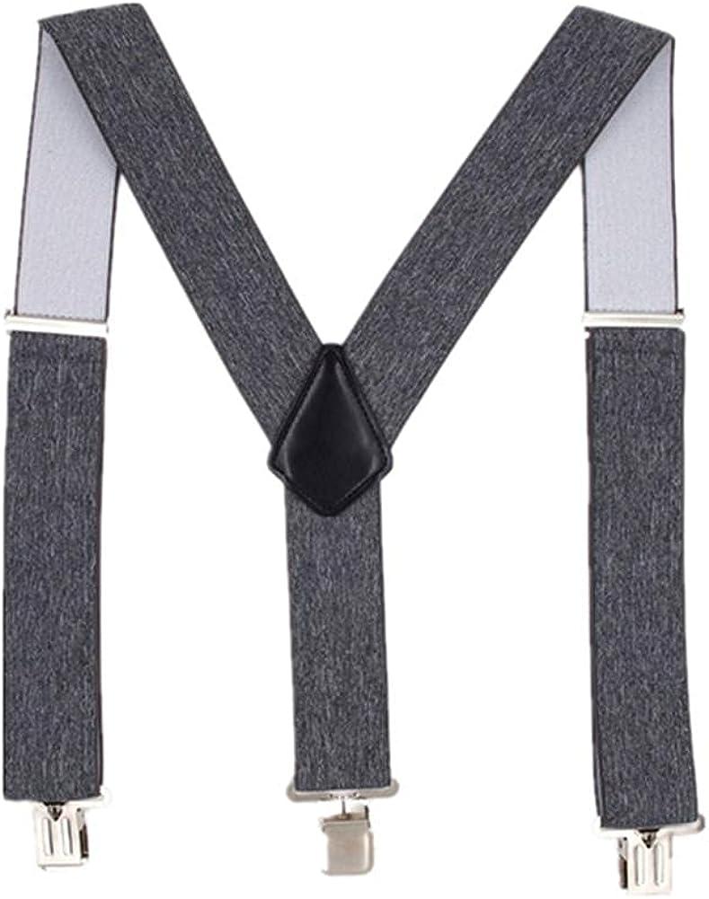 Wide Suspender Belt Men 5Cm Mens Braces For Trousers 3 Clips Elastic Male Adult Suspenders Shirt 120Cm