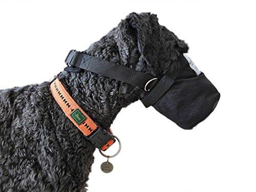 NATURE PET Giftköderschutz/Netzmaulkorb/Sicherheitsnetz für Hunde aus Neopren (M)