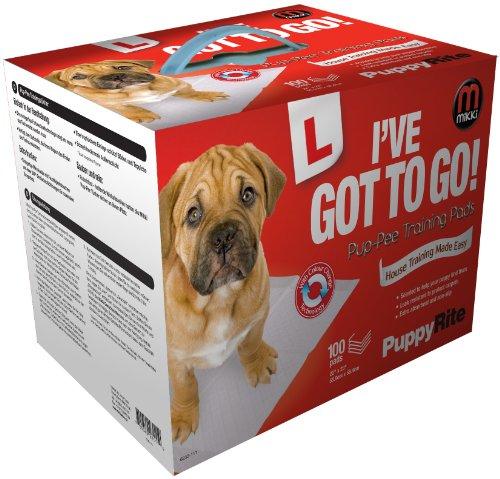 Mikki Toallitas de Entrenamiento enseñar a Hacer PIS en casa a Perros y Cachorros. Súper absorbentes. Pack de 100.