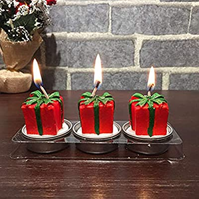 Longay Christmas Candles Santa Claus Snowman Birthday Christmas Party Decoration Candle
