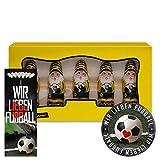 Borussia Dortmund Schoko Mini Weihnachtsmann BVB 09 (5 STK.) Plus gratis je 1 x Aufkleber + 1 x Lesezeichen Wir lieben Fußball