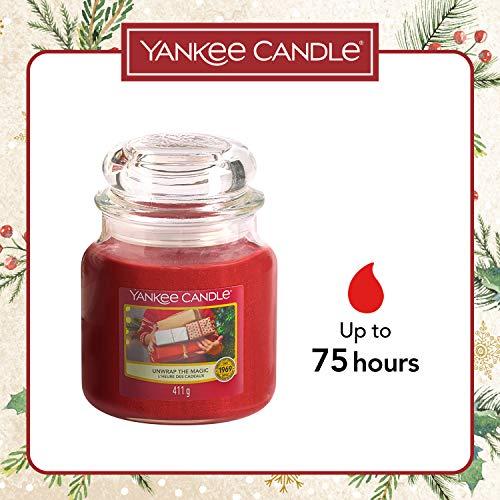 Yankee Candle Set Regalo Composto da Candele Profumate, Contenente 1 Candela in Giara Piccola, 2 Candele Votive, 12 Tea Light e 2 Tart Nella Fragranza Magia del Natale, Confezione Regalo Natalizia