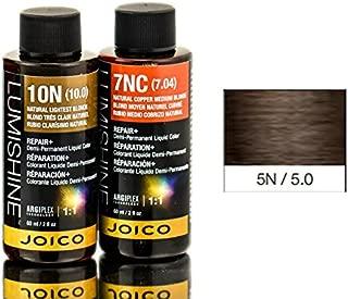 Joico Lumishine Demi Permanent Liquid Color Natural Light Brown 5n/5.0, 2 Ounce