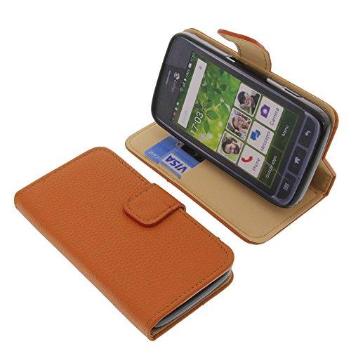 foto-kontor Tasche für Doro Liberto 820 Mini Book Style orange Schutz Hülle Buch