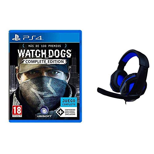 NUWA Pack Watch Dogs Complete Edition PS4 + Cuffie Gaming Blu