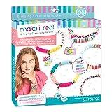 Make It Real - Summer Vibes Heishi Bead Bracelets - DIY Charm Bracelet Making Kit with Case - Friendship Bracelet Kit with Beads, Charms & Thread - Arts & Crafts Bead Kit for Girls - Makes 5 Bracelets