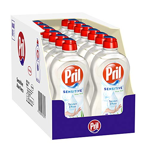 Pril Sensitive Aloe Vera, Spülmittel, pH-hautneutral mit Seideneffekt, (14 x 500 ml)