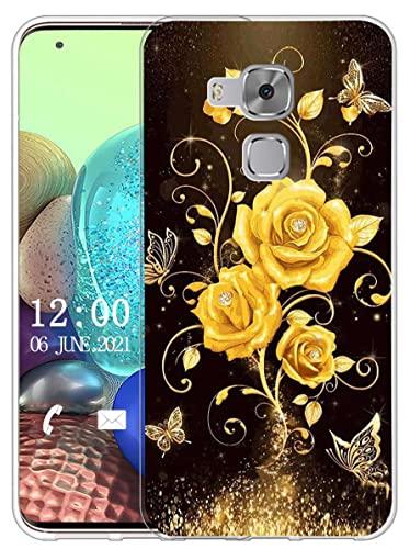 Sunrive Funda Compatible con Huawei Nova Plus, Sunrive Silicona Slim Fit Gel Transparente Carcasa Case Bumper de Impactos y Anti-Arañazos Espalda Cover(X Lobo)