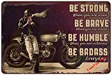 YuanTao Cafe Racer Man Be Badass Funny Tin Sign Bar Pub Diner Cafe Wall Decor Home Decor Art Poster Retro Vintage 8x12 Inches